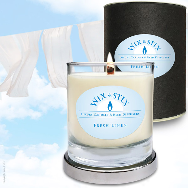 Fresh Linen candle woodwix