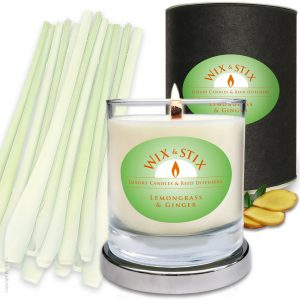 Soy WaxLemongrass & Ginger Woodwix Candle