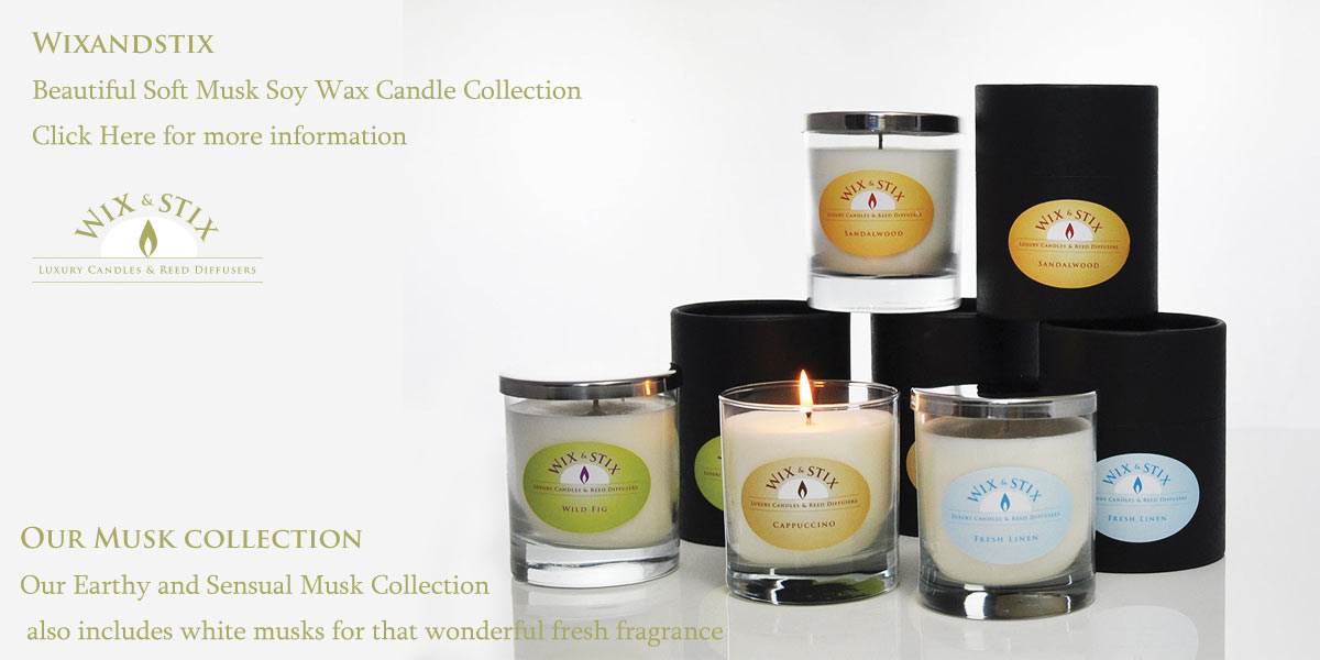 Luxury Soy Wax Candles and Reed Diffusers, musk collection soy wax candle