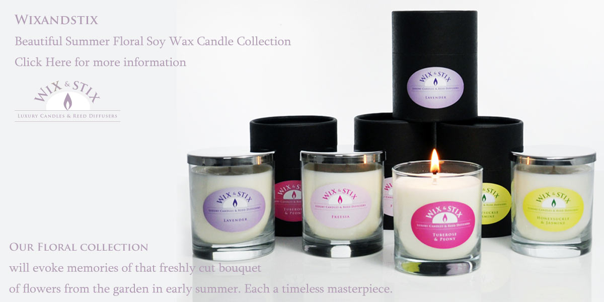 Luxury Soy Wax Candles and Reed Diffusers, our floral collection