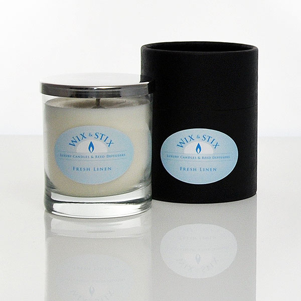 fresh linen luxury soy wax candle