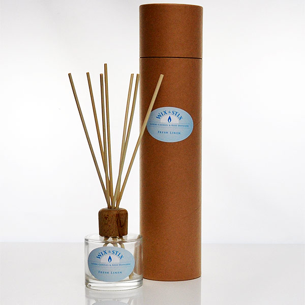 fresh linen clear reed diffuser