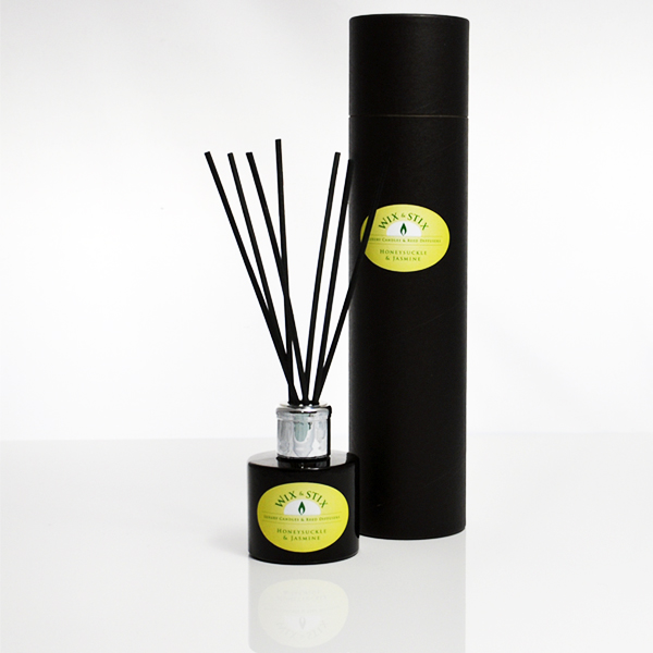 honeysuckle and jasmine black reed diffuser