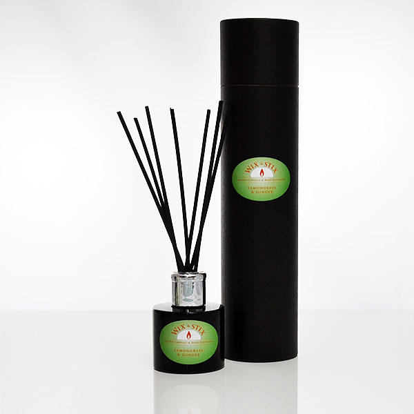 luxury reed diffuser lemongrass and ginger black