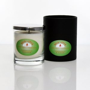 lemongrass and ginger luxury soy wax candle