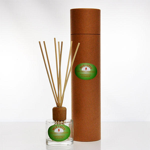 lemongrass and ginger clear luxury reed diffuser