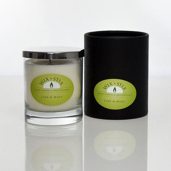 lime and mint luxury soy wax candle