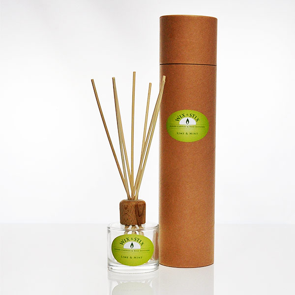 lime and mint clear reed diffuser
