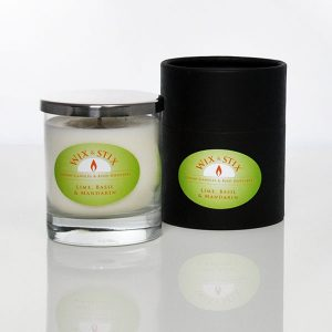 lime basil and mandarin luxury soy wax candle