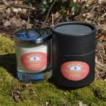 rhubarb and vanilla candle
