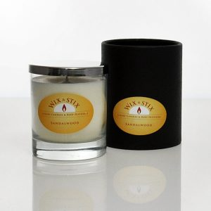 sandalwood luxury soy wax candle