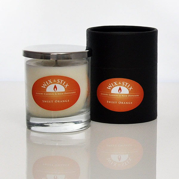 sweet orange luxury soy wax candle