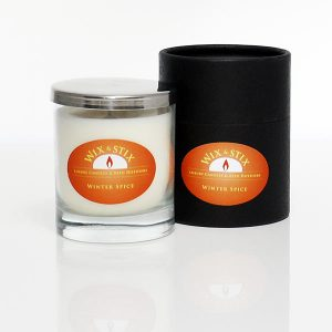 winter spice luxury soy wax candle