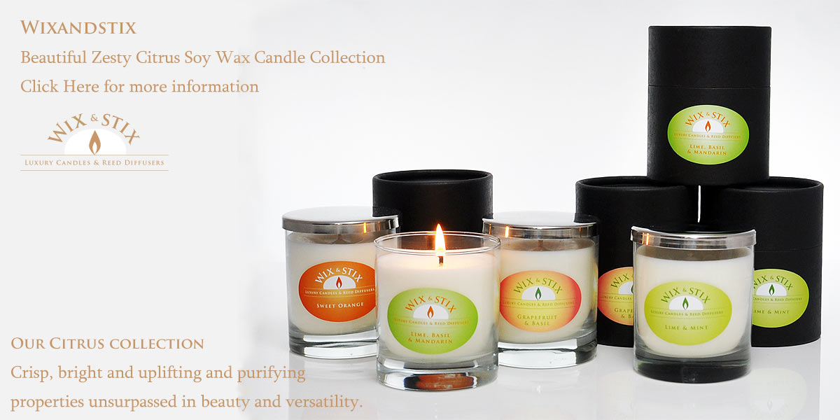 Luxury Soy Wax Candles and Reed Diffusers, citrus collection luxury soy wax candles