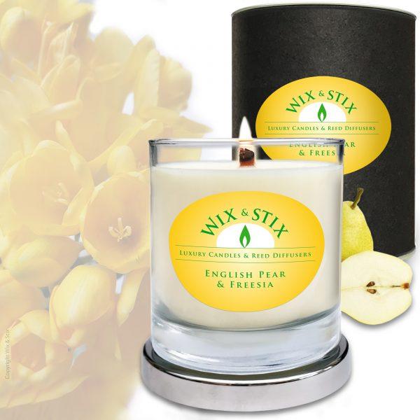 English pear & Freesia WoodWix Candle