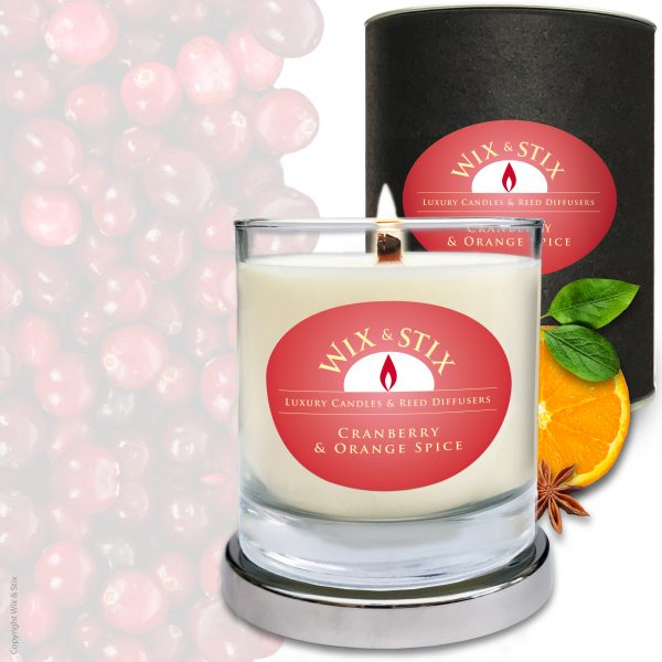 Cranberry & Orange Spice Candle