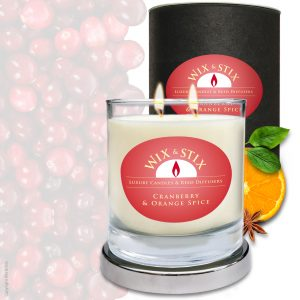 Cranberry & Orange Spice DoubleWix Candle