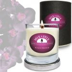 Black Orchid Soy Wax Candle with WoodWix