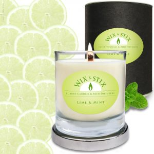 Soy Wax Lime & Mint Woodwix Candle