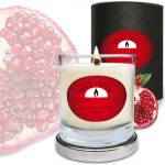 Soy Wax Pomegranate WoodWix Candle