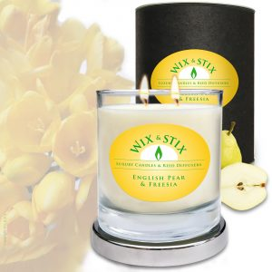 English pear & Freesia DoubleWix Candle