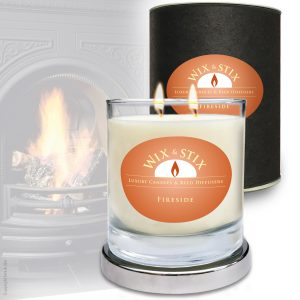 Fireside Soy Wax DoubleWix Candle