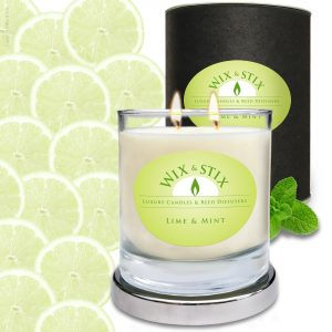 Lime & Mint Soy wax Candle with DoubleWix