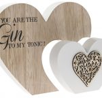 You are the Gin To My Tonic Double Heart Plaque
