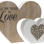 All You Need Is Love Double Heart Plaque