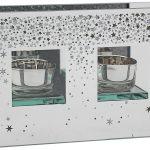 Glitter Stars T-Light Holder Double