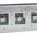 Glitter Stars T-Light Holder Triple