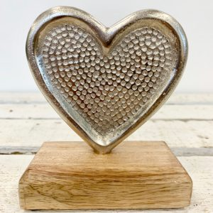 Hammered Aluminium Heart