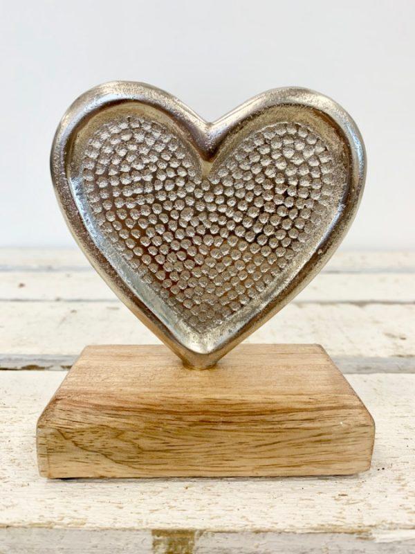 Hammered Aluminium Heart