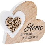 Home Is Where The Heart Is Double Heart Plaque