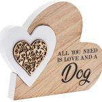 Love and a Dog Natural Toned Side Heart Block