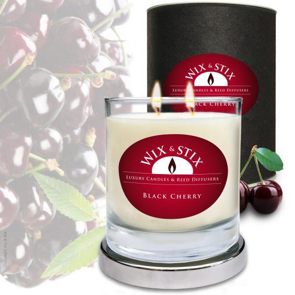 Black Cherry DoubleWix Candle