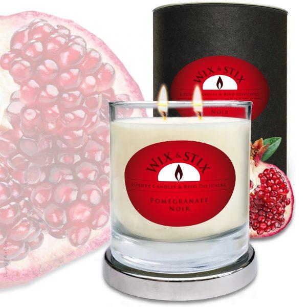 Pomegranate Noir DoubleWix Candle