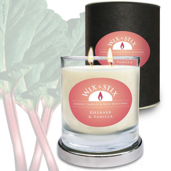 Rhubarb & Vanilla DoubleWix Candle