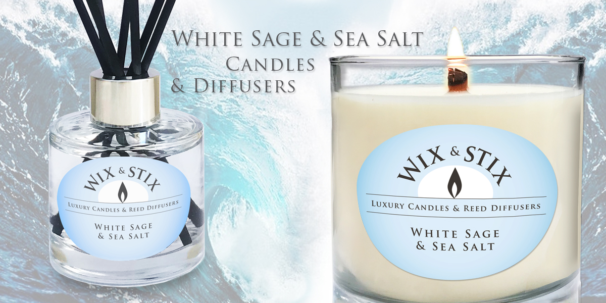 white sage and sea salt diffuser and candle
