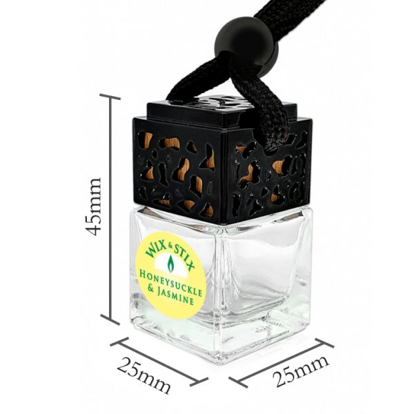 Honeysuckle and Jasmine Car Diffuser Dimensions