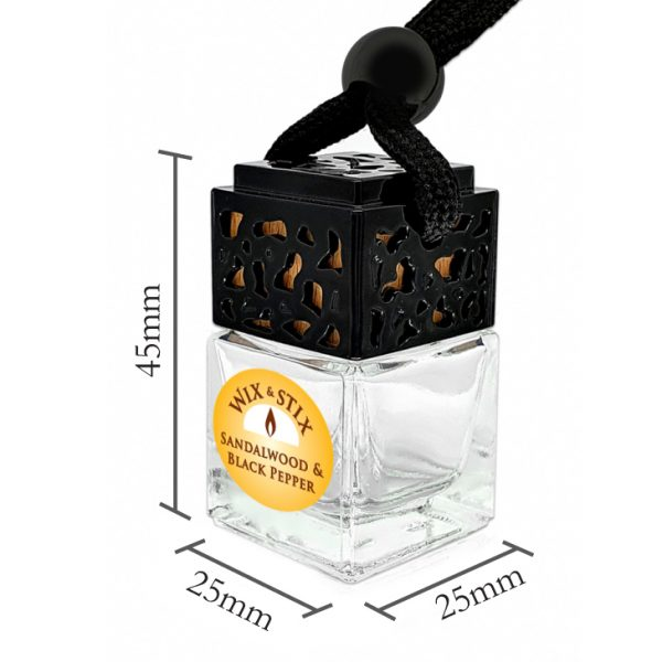 Sandalwood and Black Pepper Car Diffuser Dimensions