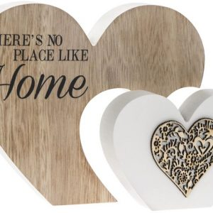 There's No Place Like Home Double Heart Plaque