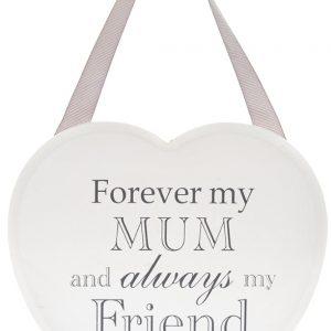 Forever My Mum White Heart Plaque