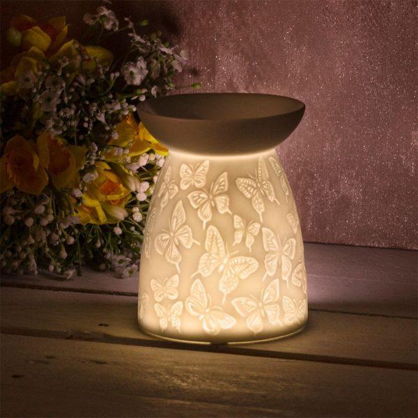 Butterflies Ceramic Wax Melter